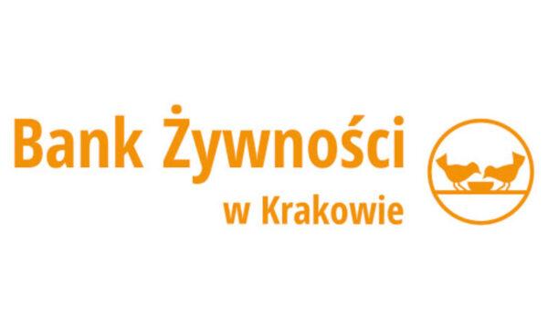 Grafika przedstawia logo Banku Żywności w Krakowie.